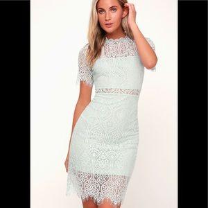 Midi length lace dress